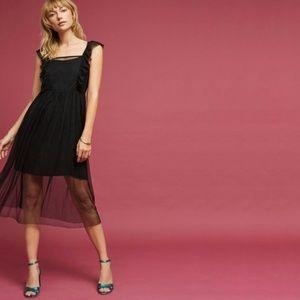 ANTHROPOLOGIE Maeve Layered Apron Mesh Dress NWT